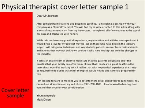 physical therapy cover letter new grad physical therapist cover letter