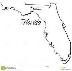 florida state map outline state of florida outline stock photo image 4674950