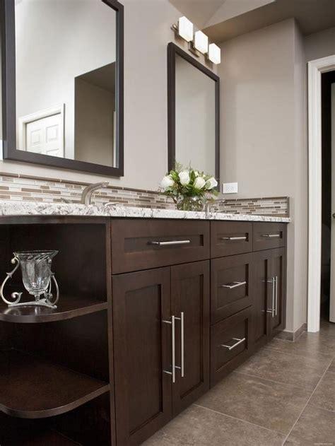 contemporary dark wood bathroom vanity ideas