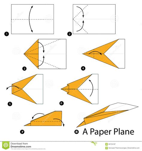 To Make A Paper Plane - step by step how to make origami a paper