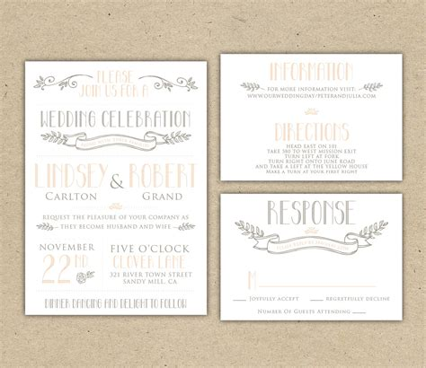 wedding rsvp postcard template free all templates deal