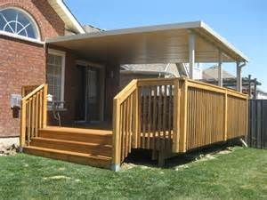 How To Install Decking Handrail Insulated Roofs Sepio Weather Shelters