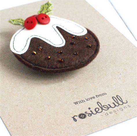 Handmade Puddings - handmade pudding brooch by rosiebull designs