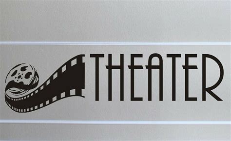 home theater wall decal removable sticker mural decor room