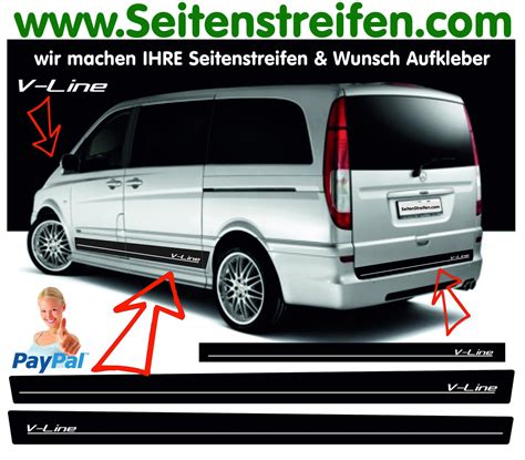 Decal Striping Sticker Klx 041 Glossy mercedes viano vito v line sticker decal side