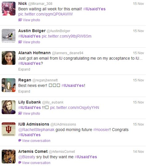 Indiana Acceptance Letter great social media idea acceptance letter hashtag social media for colleges