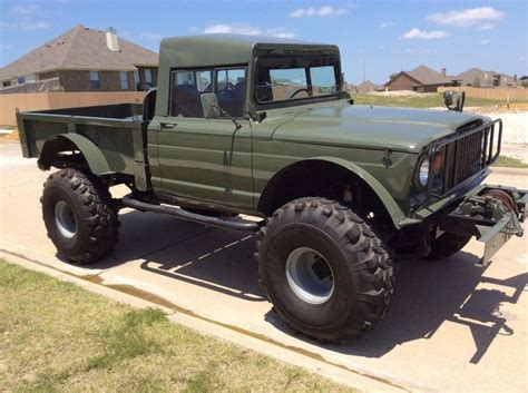 lifted jeep truck lifted jeep hummer m715 rock crawler truck kaiser