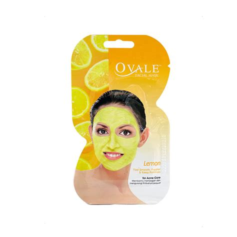 Masker Ovale Lemon Botol ovale mask 15g lemon mask skin care e shop