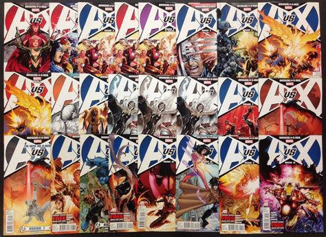 avengers versus x men 1846535182 avengers vs x men avx 2012 0 1 12 complete 13 part set with variants 24 comics