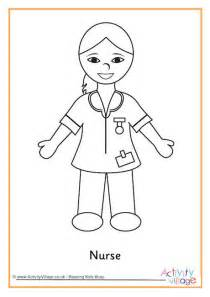 nurse colouring page