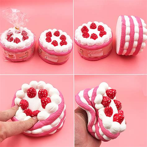 Squishy Strawberry Bulat 6 Cm 12cm jumbo squishy strawberry cake scented rising kid collection decor alex nld