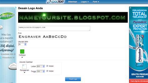 membuat kode html banner cara mudah membuat logo secara online dengan cooltext