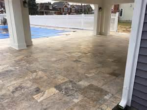 Travertine Patio Pavers Travertine Paver Patio Construction Premier Lawn And