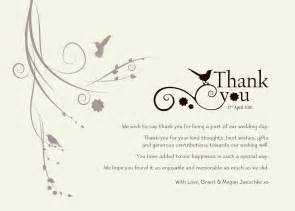 thank you card for wedding wedding thank you templates free standard greeting card