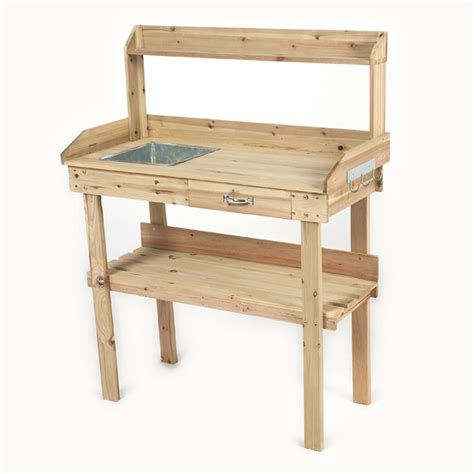 garden potting table for sale ellister potting table with top shelf on sale fast