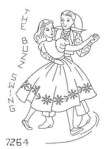 chicken dance coloring page 23 best embroidery dancing images on pinterest