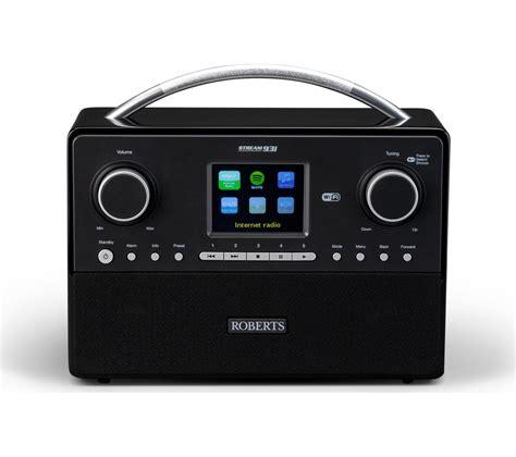 l radio alarm clock buy roberts stream93i dab clock radio black free