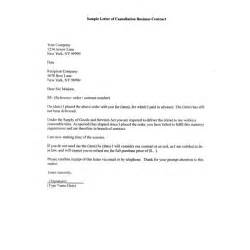 Cancellation Letter Real Estate Contract How To Write A Sample Letter Of Cancellation Business
