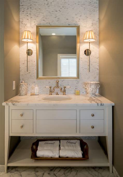 tiled powder vanity walls