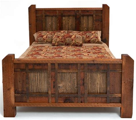 barnwood bedroom furniture barn wood bed pinpoint