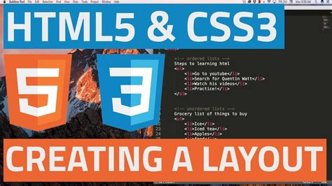 html5 css3 page layout with html5 part 1 youtube html5 and css3 beginner tutorial 32 creating a simple