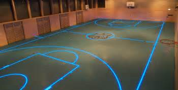 changeable led floor boundary lines by asb glassfloor