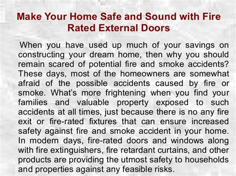 make your home safe and sound with external doors