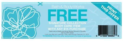 printable gift certificates bath and body works bath and body works canada free gift printable coupon