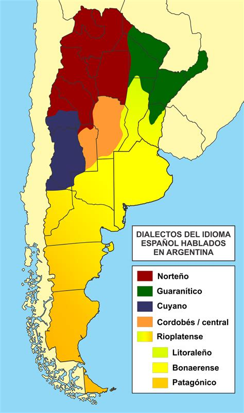language et languages of argentina