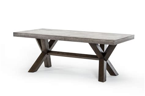 Rectangle To Square Dining Table Modrest Concrete Rectangular Dining Table