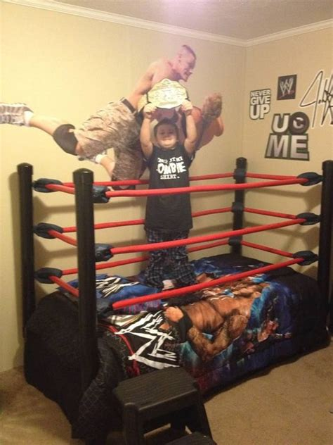 wwe bed diy wrestling bed step by step instructions diy home furnishings pinterest
