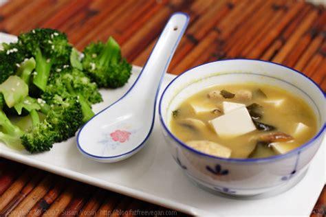 miso soup and sesame broccoli recipe