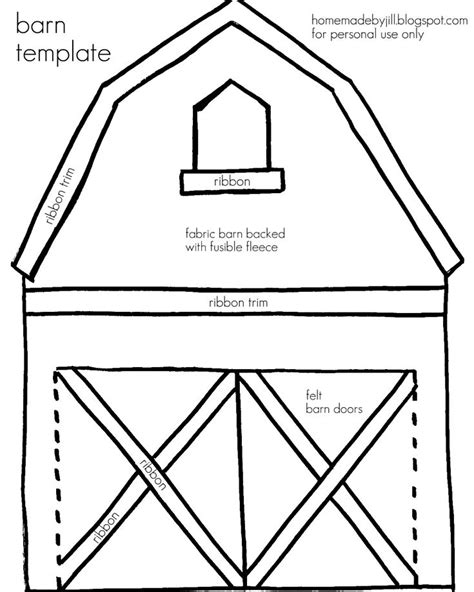 quiet book pattern free barn template templates pinterest homemade quiet