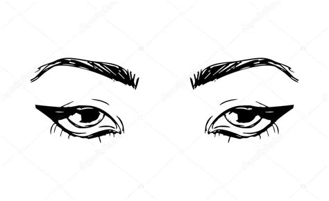 Hand Drawn Outline Human Eyes Stock Vector 169 Superson