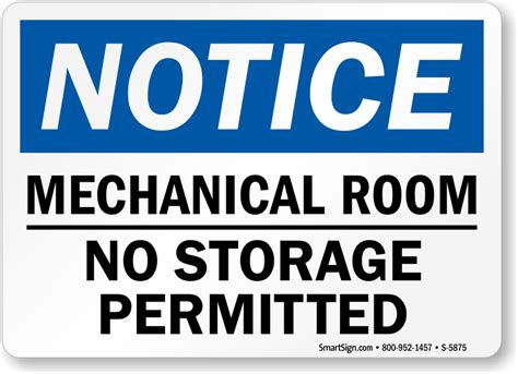 Room Signs by Mechanical Room Signs Braille Signs