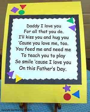 free fathers day poems toddler activities childrens poems for s day