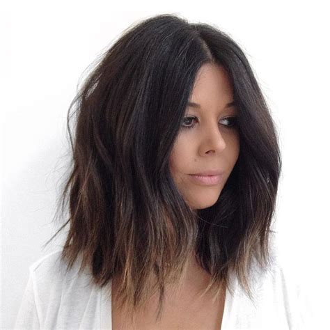 choppy lob hairstyle best 25 medium choppy hair ideas on pinterest medium