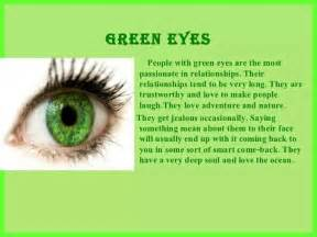 eye color and personality green my stuff