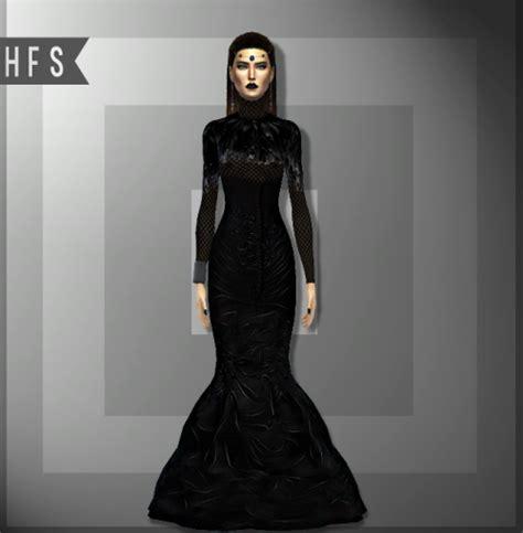 Longdress Cc darqueen dress by haut fashion sims 4 sims 4 nexus