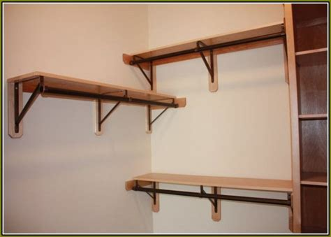 Ceiling Closet Rod Support Brackets by Ceiling Closet Rod Support Brackets Home Design Ideas