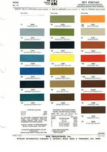 Pontiac Codes Pontiac Paint Charts Reference Page By Tachrev