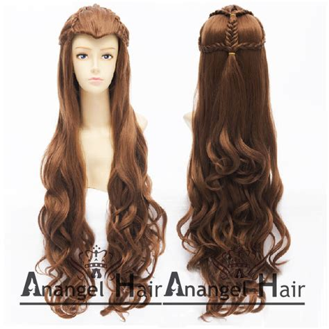how to style costume wigs the hobbit elf tauriel wig synthetic hair costume long