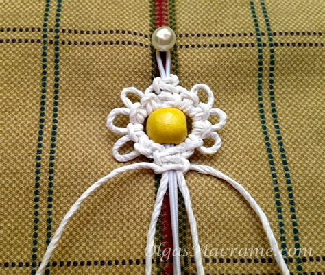 Macrame Flower Knot - macrame flower bracelet elastic