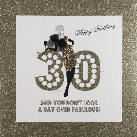Large Birthday Cards Uk 30 And Fabulous Large Handmade Birthday Card Ga4 Tilt Art