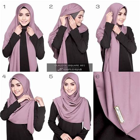 tutorial hijab gliter simple tutorial hijab onm pinterest tutorials hijabs and