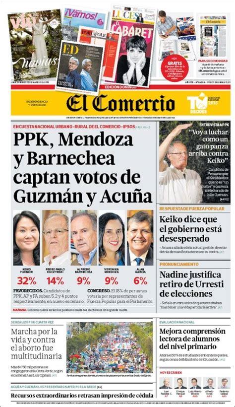 diario el comercio peru newspaper el comercio peru newspapers in peru sunday s