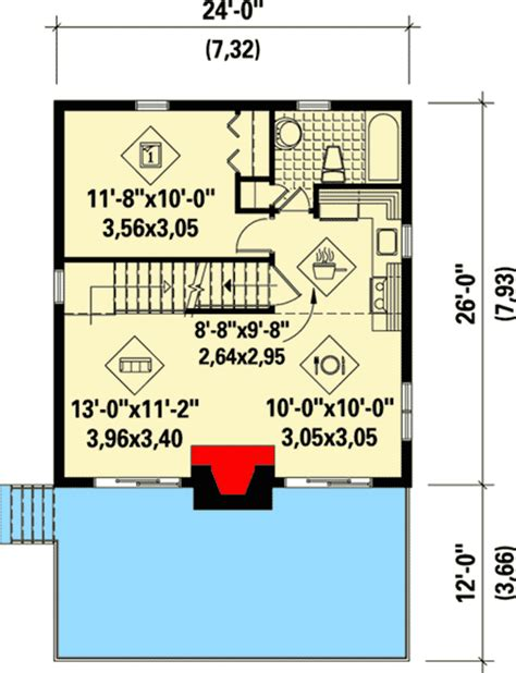 getaway floor plan or mountain getaway cottage 80684pm architectural designs house plans