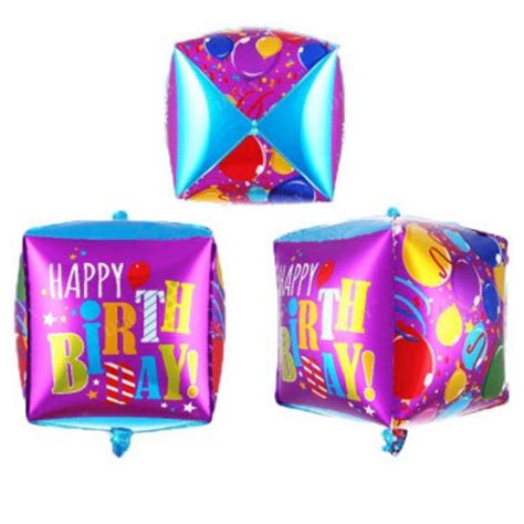 Balon Huruf Foil Hbd Happy Birthday balon kotak hbd toko perlengkapan ulang tahun dekorasi