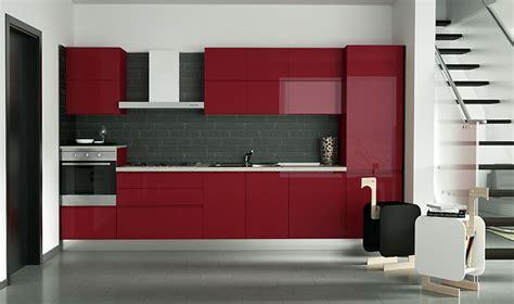 cucina rossa laccata arredaclick il progetto di matteo soggiorno