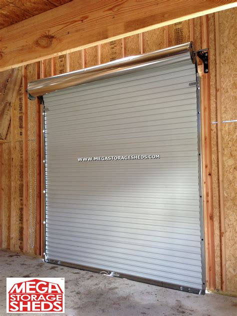 Roll Up Shed Door by Roll Up Doors Mega Storage Sheds